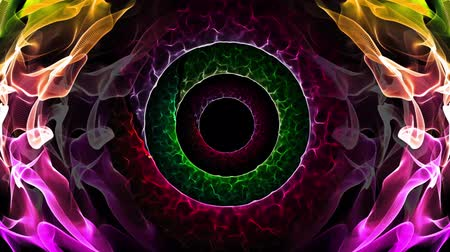 consciente : Seamless loop abstract animation hole of illusionary colorful light represent subconscious mind, peaceful trance, warp zone, time travel, space black hole or worm hole used for screen saver decoration or hypnotizing therapy in 4k ultra HD Vídeos