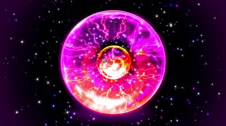 delikleri : Animation Plasma ball going hot and explode in bigbang or supernova destroy all stars with shining light in outer space universe background pattern zooming in 4k ultra HD