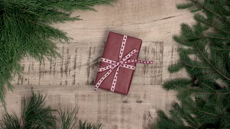 wrapping paper : Stack of handcraft gift boxes