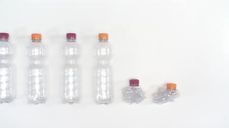 biodegradable : Crushed plastic bottles for recycling