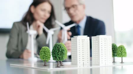 strukturální : View of the architectural model on the table in the office Dostupné videozáznamy