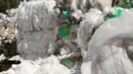 sem problemas : Plastic garbage in the rubbish dump Stock Footage