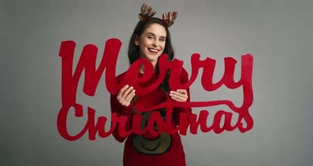 paroh : Nerd woman with the best wishes for Christmas Dostupné videozáznamy