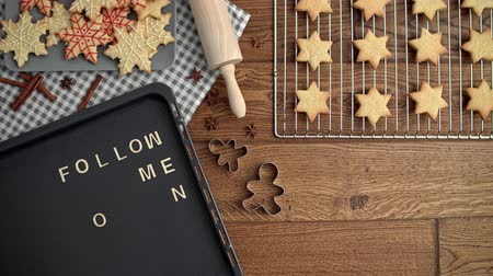 christmas background : Christmas time with gingerbread cookies