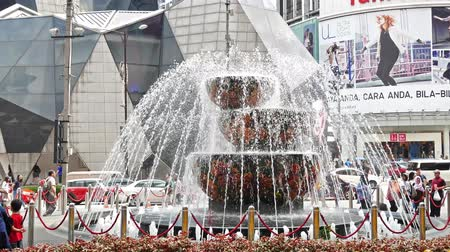 bukit bintang : Kuala Lumpur, Malaysia - Oct 17,2017 :  Pavilion Crystal Fountain which is located at the