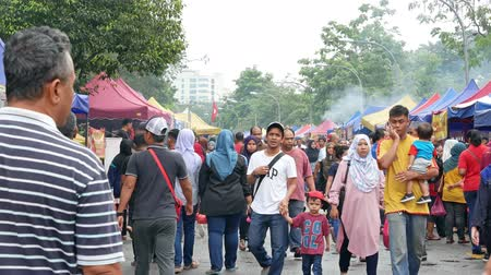 ramadan bazaar : Kuala Lumpur,Malaysia - May 31, 2018 : People seen exploring and buying foods around the Ramadan Bazaar.It is established for muslim to break fast during the holy month of Ramadan.