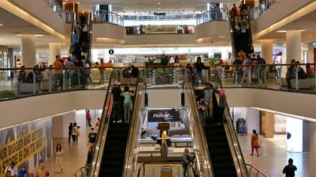 fashion outlet : Kuala Lumpur,Malaysia -April 20,2019 : Mid Valley Megamall is a shopping mall located in Mid Valley City, Kuala Lumpur. It sits at the entrance of Petaling Jaya and Kuala Lumpur. Stock Footage