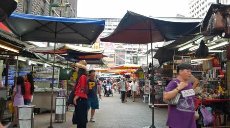 urban exploration : Kuala Lumpur,Malaysia - June 2, 2019 : Petaling Street is a chinatown which is located in Kuala Lumpur,Malaysia.It usually crowded with locals as well as tourists. People can seen exploring around it.