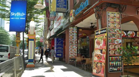 июнь : Kuala Lumpur, Malaysia -June 2,2019 : People can seen exploring around Brickfields Little India in KL, it was transformed by the Indian community into a wide street with Indian stores and restaurants. Стоковые видеозаписи