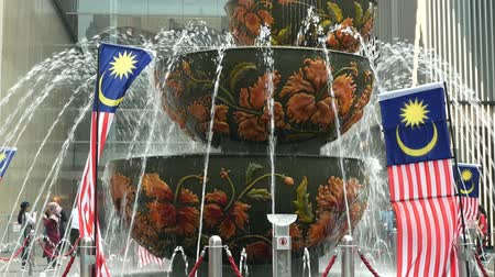 bukit bintang : Kuala Lumpur, Malaysia - September 8,2019 : Pavilion Crystal Fountain which is located at the entrance of Pavilion Kuala Lumpur, Malaysia.