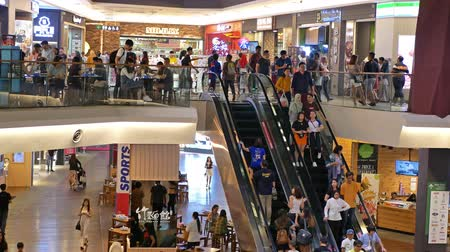 elfoglalt : Kuala Lumpur,Malaysia - September 16,2019 : Mid Valley Megamall is a shopping mall located in Mid Valley City, Kuala Lumpur. People can seen exploring and shopping around it.