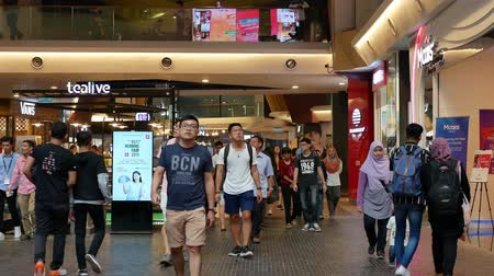 fashion outlet : Kuala Lumpur,Malaysia - September 18,2019 : Mid Valley Megamall is a shopping mall located in Mid Valley City, Kuala Lumpur. People can seen exploring and shopping around it. Stock Footage
