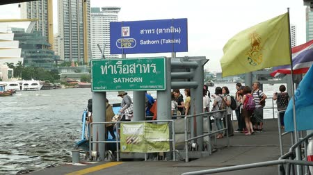 Bangkok,Thailand - November 7,2019 : People can getting around the famous riverside area of Bangkok with its many historical attractions, temples and architecture by river boats and ferries.