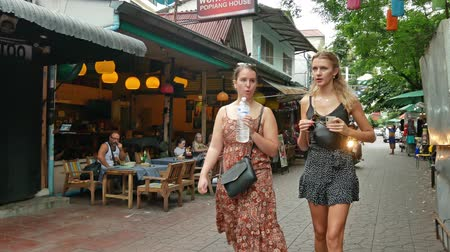 Bangkok,Thailand - Nov 13 ,2019 : Backpacking district of Khao San Road is the traveler hub of South East Asia with bars and restaurants as well as budget hostels. People can seen exploring around it. Stock mozgókép