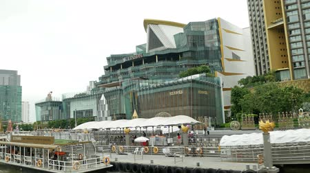Iconsiam ,Thailand -Nov 13,2019: Scenic view of the Iconsiam shopping mall from the river boats. Iconsiam Mall is called the Mother of All Malls, with 500 shops and 100 restaurants.