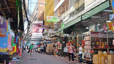 Bangkok, Thailand-Nov 18,2019 : Scenic street life view in Chinatown Bangkok which is located at Yaowarat Road. People can seen exploring around the market stalls, street-side restaurants and etc.