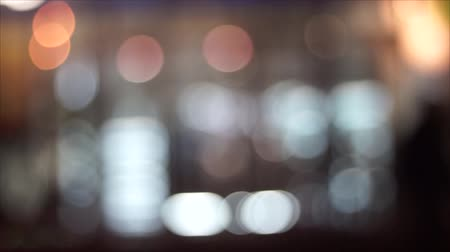 urban landscape : blurred background view of a night city. A modern night city.