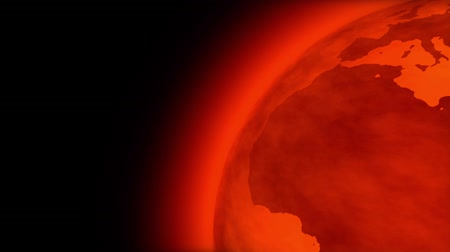 natural world : Spinning Earth very hot and red. Environment and Global Warming concept. Loopable CG animation. Image rendered using 2d map provided by NASA (http:www.nasa.gov) Stock Footage