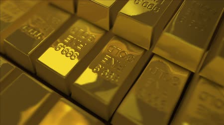 idiom : Looping Gold Bullions. Stock Footage