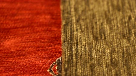 kilim : Fine Textiel Close Up Fast Dolly shot 3 Stockvideo