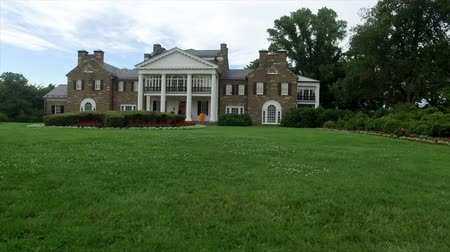 prominent : Glenview Historic Neo-Classical Revival Style Mansion Dolly Shot