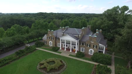 konak : Glenview Historic Neo-Classical Revival Style Mansion Wide Aerial
