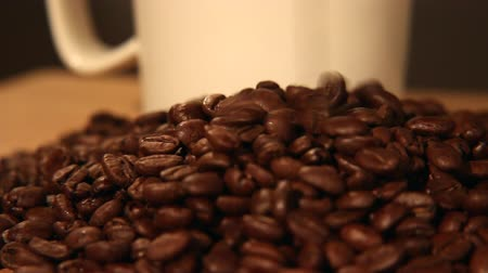 low lighting : Coffee Bean Tracking Shot - Falling Coffee Beans