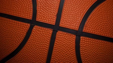 Basketbal bal roterende close-up in Slow Motion HD