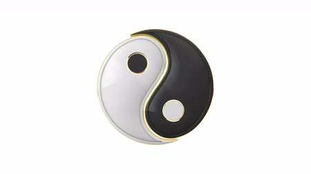 daoism : Yin-Yang (constant struggle of two opposites). Connection. Compound. Eastern culture and philosophy. Stock Footage