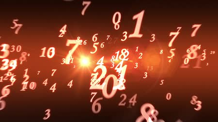 screen saver : Numerology (ancient science of numbers). Intro template. Video screensaver with text. Quick Time, h264, 16-bit color, highest quality. Smooth gradation of color, without banding effect! 3D animation. Available in high-resolution and several sizes to fit t Stock Footage