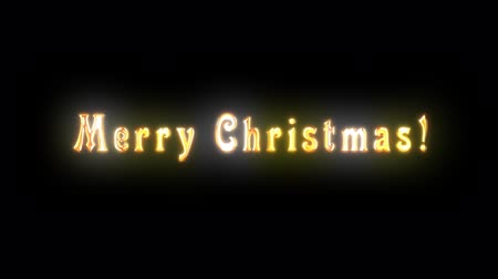png : Alpha channel. Congratulatory Christmas video card. Decorative golden title, particles.Artistic intro (introductory template). Christmas, New Year. Quick Time, codec: PNG, 16-bit color, highest quality. 3D animation. Smooth gradation of color, without ban