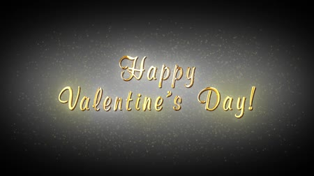 png : Alpha channel. Happy Valentines Day. Decorative golden title, particles. Artistic intro (introductory template). Quick Time, codec: PNG, 16-bit color, highest quality. 3D animation. Smooth gradation of color, without banding effect.