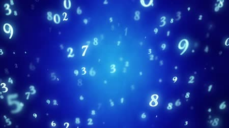 aritmética : Numerology (secret knowledge about the numbers). Esoteric background with numbers. Soft focus and depth of field. 3D animation. Intro template for captions, title or text. Quick Time, h264, 16-bit color, highest quality. Smooth gradation of color, without Stock Footage