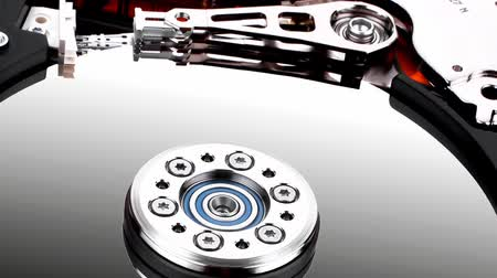 drive : real open hard drive isolated on white ackground