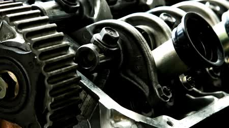 настройка : car engine inside view isolated over white