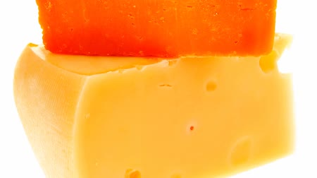 soft cheeses : two french gourmet yellow cheeses 1920x1080 intro motion slow hidef hd