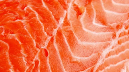 freshness background : piece of big salmon fillet 1920x1080 intro motion slow hidef hd Stock Footage