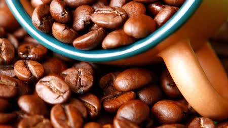 black coffee : dark roasted ready fresh coffee beans in bulk 1920x1080 intro motion slow hidef hd
