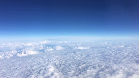 atitude : Beautiful Aerial View Of Clear Sky Over White Fluffy Clouds From Height Flight Of Plane