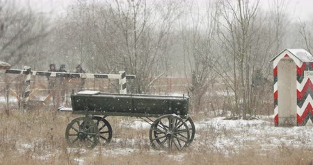 druhý : Russian Soviet Red Army Cart Of World War II Near Checkpoint