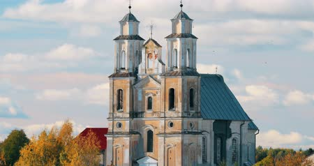 bělorusko : Germanovichi, Vitebsk Region, Belarus. Church Of Transfiguration Of Lord In Sunny Day
