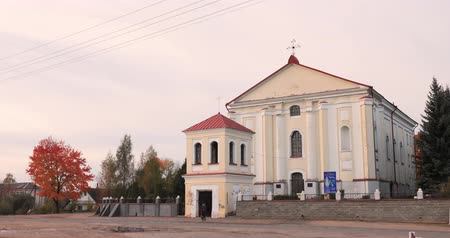 the conception : Udelo, Vitebsk Region, Belarus. Catholic Church Of Immaculate Conception Of Blessed Virgin Mary In Autumn Day