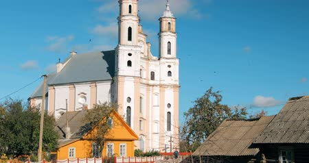 st michael the archangel : Luzhki, Vitebsk Region, Belarus. Church Of St. Michael Archangel In Sunny Day.