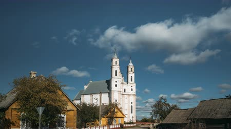 st michael the archangel : Luzhki, Vitebsk Region, Belarus. Church Of St. Michael Archangel Stock Footage