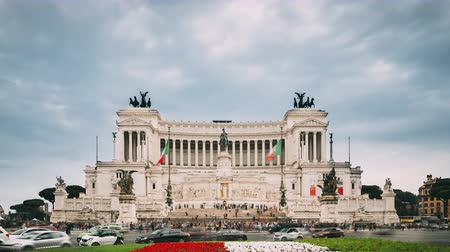 oltář : Rome, Italy. Altar Of The Fatherland Built In Honor Of Victor Emmanuel II. II Vittoriano In Summer Day Dostupné videozáznamy