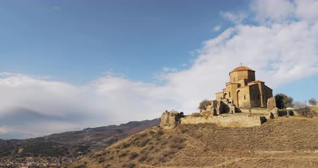 montanhoso : Mtskheta, Georgia. Jvari, Georgian Orthodox Monastery, World Heritage By UNESCO. Ancient Temple