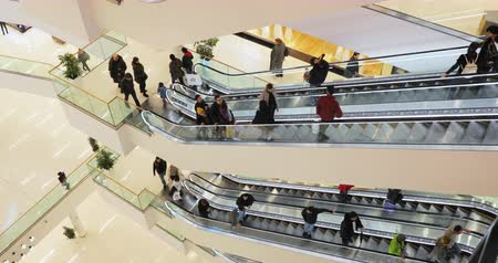 Tbilisi, Georgia - November 22, 2018: People Visiting Galleria Tbilisi Shopping Mall