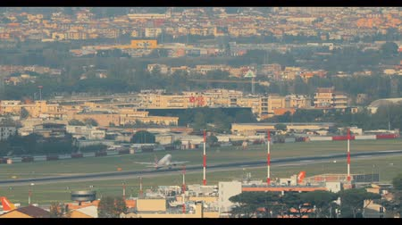 Naples, Italy. Aircraft Plane Take Off From Naples International Airport