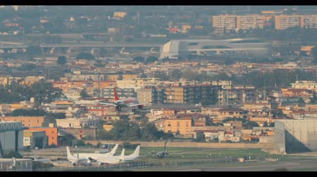 Naples, Italy - October 17, 2018: Airplane Plane Of EasyJet Airlines Landing At Naples International Airport Stok Video