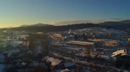 obec : Dawn time lapse winter village